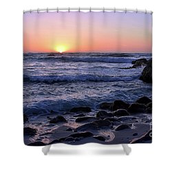 Pacific Twilight Shower Curtain by Gina Savage