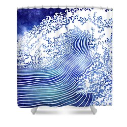 Pacific Waves II Shower Curtain