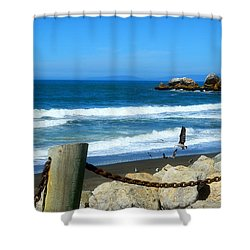 Shower Curtain featuring the photograph Pacifica Coast by Glenn McCarthy Art and Photography