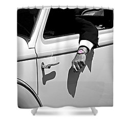 Packard Time At Pebble Beach Shower Curtain