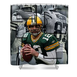 Packers Aaron Rodgers 2 Shower Curtain
