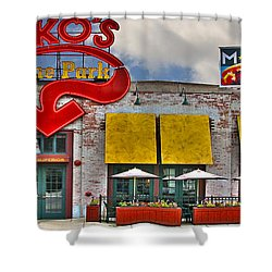 Packo's At The Park Shower Curtain by Jack Schultz