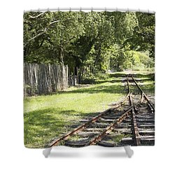 Padarn Lake Railway Shower Curtain