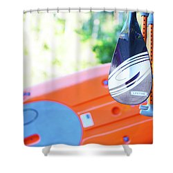 Paddle Shower Curtain by Angi Parks