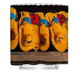 Paddle-boat Armada Shower Curtain
