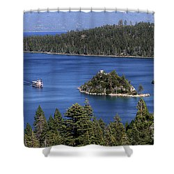Paddle Boat Emerald Bay Lake Tahoe California Shower Curtain