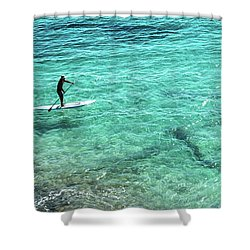 Paddle The Aqua Sea Shower Curtain
