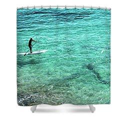 Paddle The Aqua Sea Shower Curtain