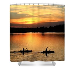 Paddling Back To Camp Shower Curtain