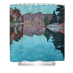 Paddling Home Shower Curtain