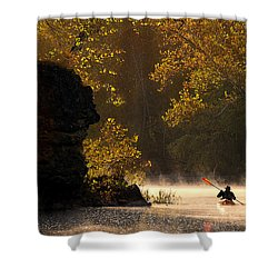 Paddling In Autumn Shower Curtain