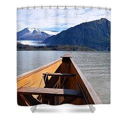 Paddling On Mendenhall Lake Shower Curtain