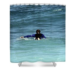 Paddling Out Shower Curtain