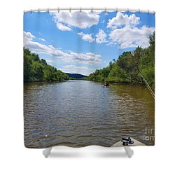 Paddling Up Crooked Creek Shower Curtain