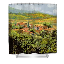 Paesaggio Toscano Shower Curtain by Guido Borelli