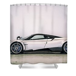 Shower Curtain featuring the photograph #pagani #huayra Bc by ItzKirb Photography