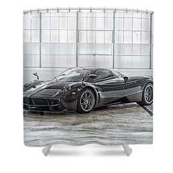 Shower Curtain featuring the photograph Pagani Huayra by ItzKirb Photography
