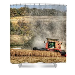 Page County Iowa Soybean Harvest Shower Curtain