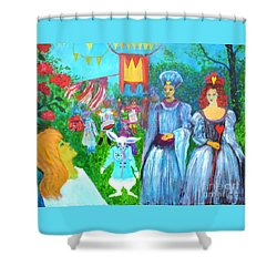 Pageant - Alice In Wonderland Shower Curtain