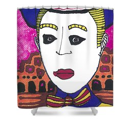 Shower Curtain featuring the painting Pagliacci  Italy by Don Koester