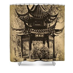 Shower Curtain featuring the photograph Pagoda Structure by Joseph Hollingsworth