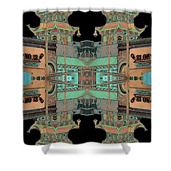 Shower Curtain featuring the photograph Pagoda Tower Becomes Chinese Lantern 1 Chinatown Chicago by Marianne Dow
