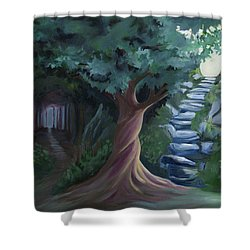 Pain To Gain Victory Shower Curtain by Julie Short