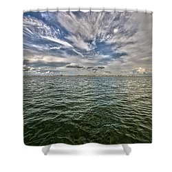 Paint Brush Sky - Ft Myers Beach Shower Curtain by Christopher L Thomley