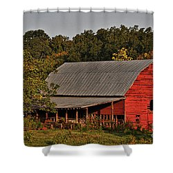 Paint It Red Shower Curtain
