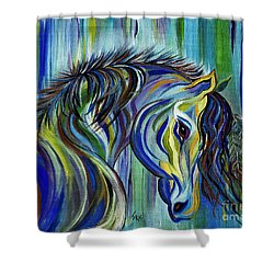 Paint Native American Horse Shower Curtain