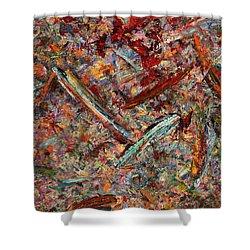 Paint Number 30 Shower Curtain by James W Johnson