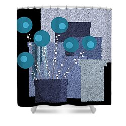 Paint Pots And Flowers Shower Curtain