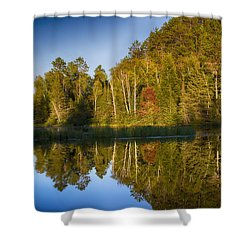 Paint River Shower Curtain by Dan Hefle