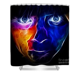 Paint Runs In My Blood Shower Curtain by Pamela Johnson