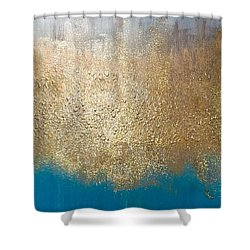 Paint The Sky Gold Shower Curtain