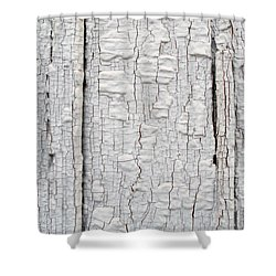 Shower Curtain featuring the photograph Painted Aged Wood by John Williams