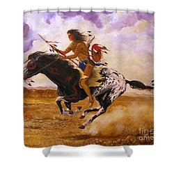 Painted Arrow Shower Curtain