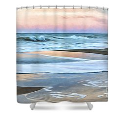 Painted Beach Sunset Shower Curtain