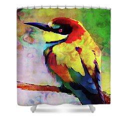 Painted Bee Eater Shower Curtain