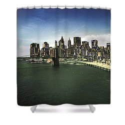 Shower Curtain featuring the photograph Painted City by Dave Beckerman