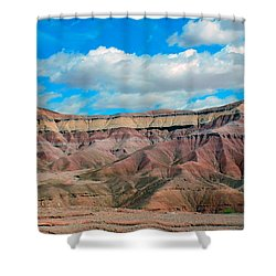 Painted Desert Shower Curtain by Charlotte Schafer