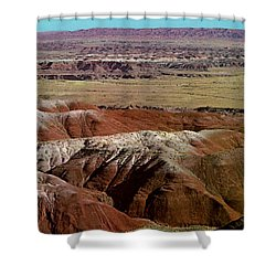 Painted Desert In Arizona Shower Curtain by Ruth  Housley