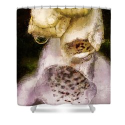 Shower Curtain featuring the digital art Painted Droplets by Cameron Wood