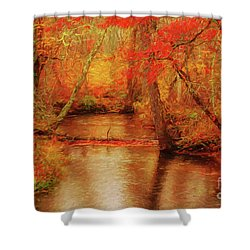 Painted Fall Shower Curtain