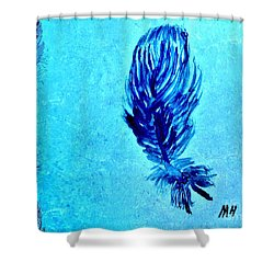 Painted Feather Shower Curtain by Marsha Heiken