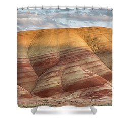 Shower Curtain featuring the photograph Painted Hill At Last Light by Greg Nyquist