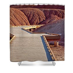 Painted Hills Boardwalk Shower Curtain by Jerry Fornarotto