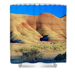 Painted Hills Extreme Pano  Shower Curtain
