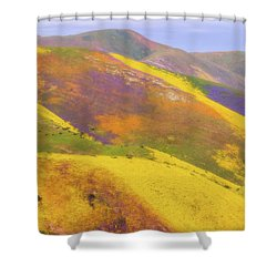 Painted Hills Shower Curtain by Marc Crumpler