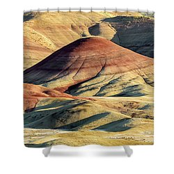 Painted Hills, Oregon Shower Curtain by Jerry Fornarotto